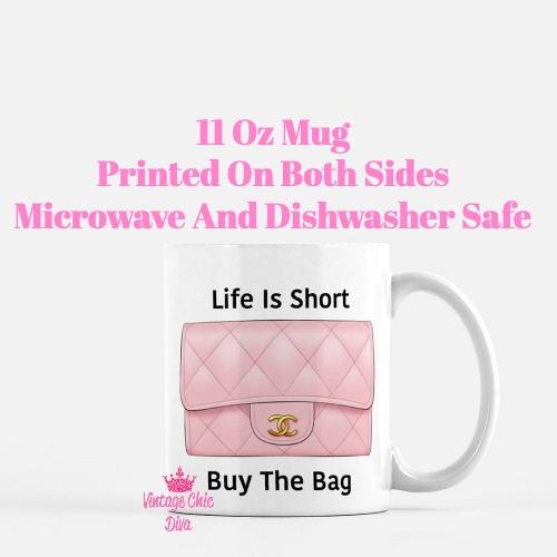 Blush Chanel Handbag Quote6 Coffee Mug-