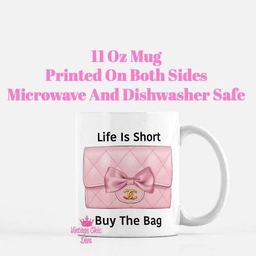 Blush Chanel Handbag Quote7 Coffee Mug-