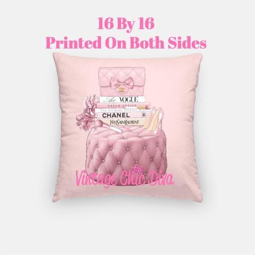 Blush Chanel Handbag Set10 Pillow Case-