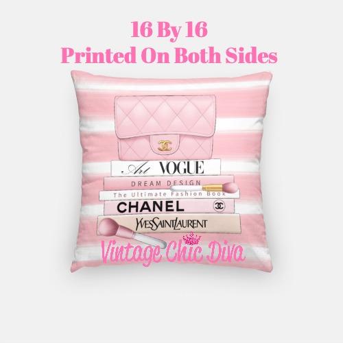 Blush Chanel Handbag Set1 Pillow Case-