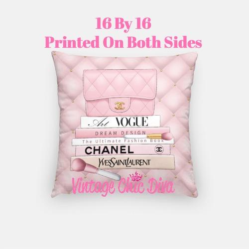 Blush Chanel Handbag Set3 Pillow Case-
