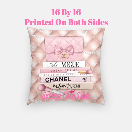 Blush Chanel Handbag Set4 Pillow Case-