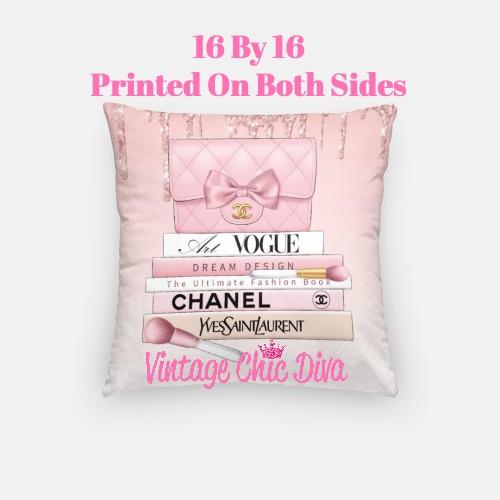 Blush Chanel Handbag Set5 Pillow Case-