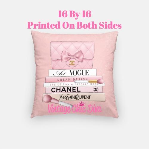 Blush Chanel Handbag Set6 Pillow Case-