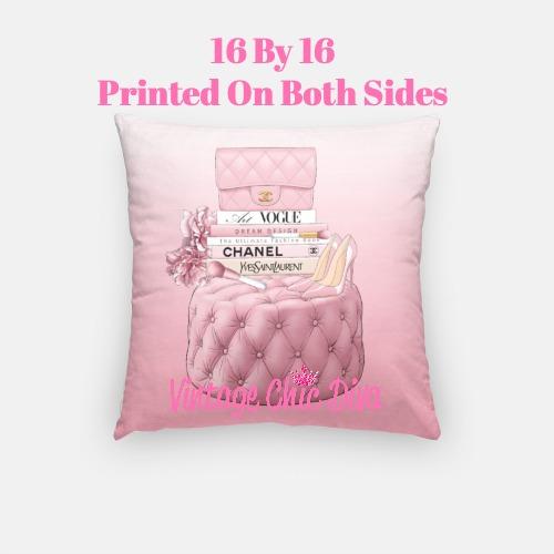 Blush Chanel Handbag Set7 Pillow Case-