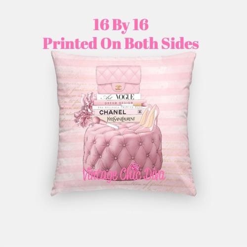 Blush Chanel Handbag Set8 Pillow Case-