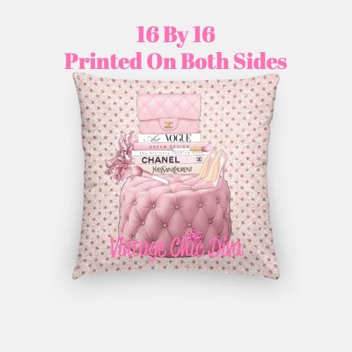 Blush Chanel Handbag Set9 Pillow Case-