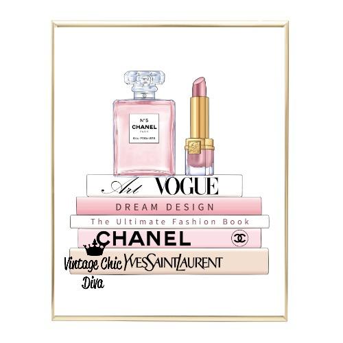 Blush Chanel Perfume Book Set1 Wh Bg-