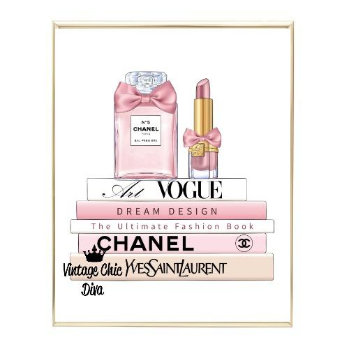 Blush Chanel Perfume Book Set2 Wh Bg-
