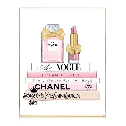 Blush Chanel Perfume Book Set3 Wh Bg-