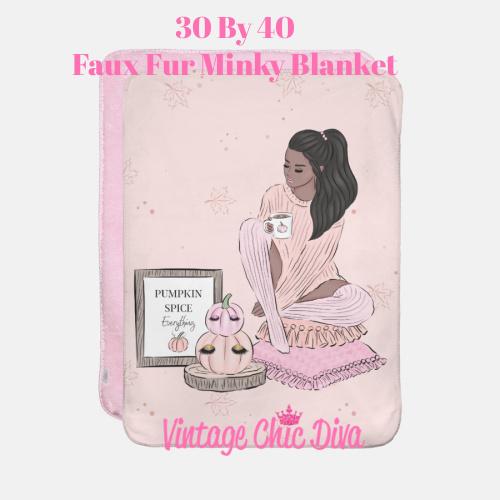 Blush Fall Girl10 Blanket-