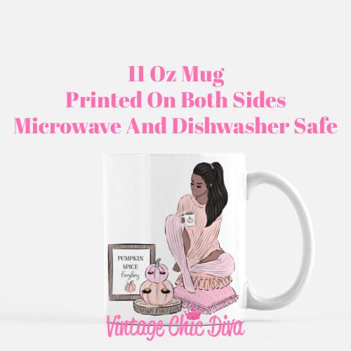 Blush Fall Girl10 Coffee Mug-