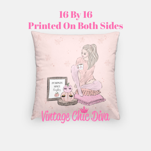 Blush Fall Girl10 Pillow Case-