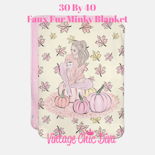 Blush Fall Girl11 Blanket-