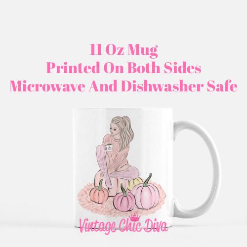 Blush Fall Girl11 Coffee Mug-