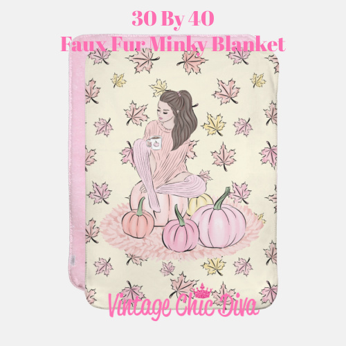 Blush Fall Girl12 Blanket-
