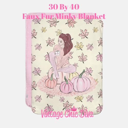 Blush Fall Girl13 Blanket-