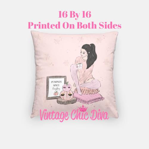 Blush Fall Girl13 Pillow Case-