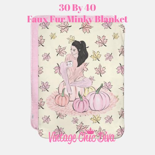 Blush Fall Girl14 Blanket-