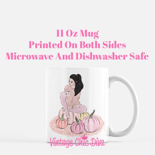Blush Fall Girl14 Coffee Mug-