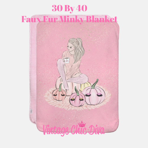Blush Fall Girl15 Blanket-