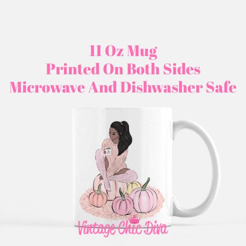 Blush Fall Girl15 Coffee Mug-