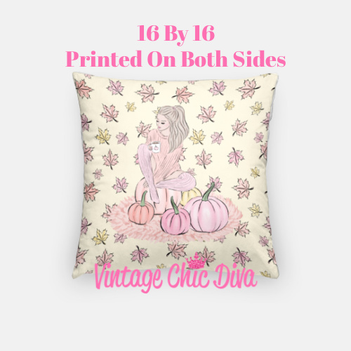 Blush Fall Girl15 Pillow Case-