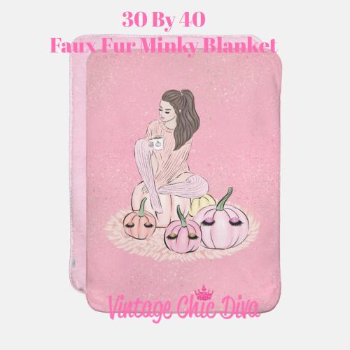 Blush Fall Girl16 Blanket-