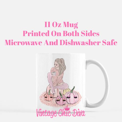 Blush Fall Girl16 Coffee Mug-