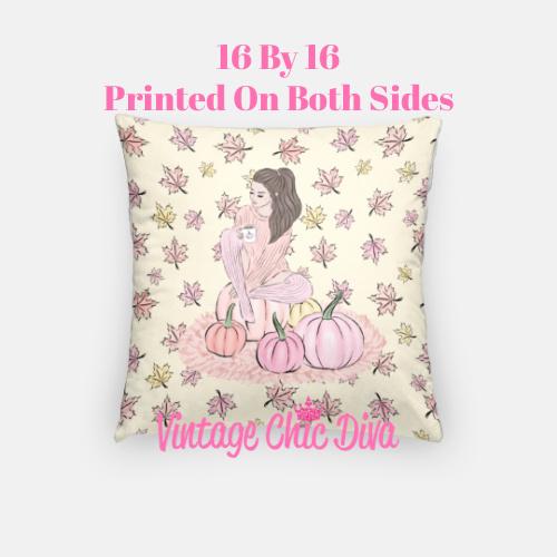 Blush Fall Girl16 Pillow Case-