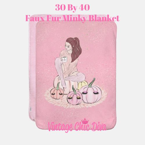 Blush Fall Girl17 Blanket-