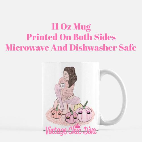 Blush Fall Girl17 Coffee Mug-