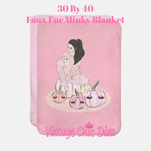 Blush Fall Girl18 Blanket-