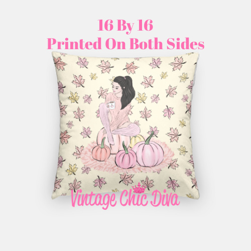 Blush Fall Girl18 Pillow Case-