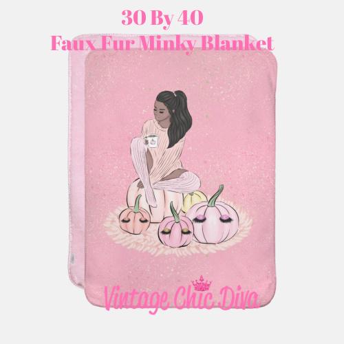 Blush Fall Girl19 Blanket-