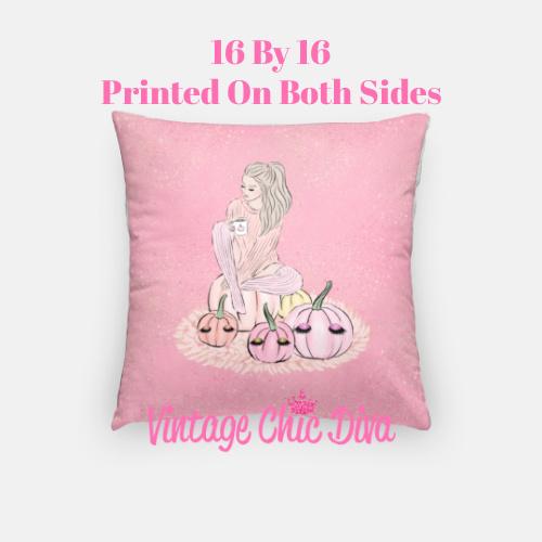 Blush Fall Girl20 Pillow Case-