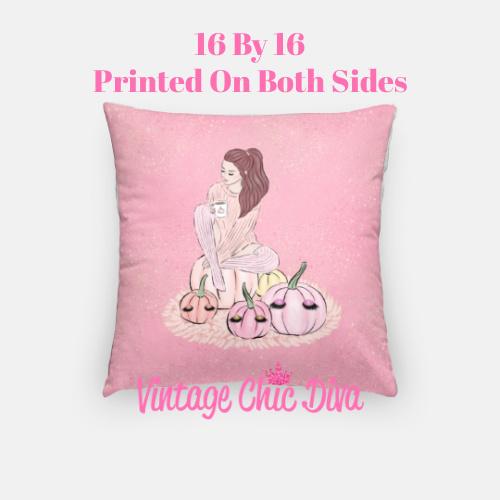 Blush Fall Girl22 Pillow Case-