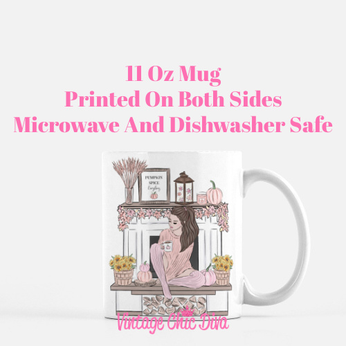 Blush Fall Girl2 Coffee Mug-