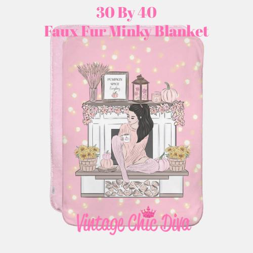 Blush Fall Girl4 Blanket-