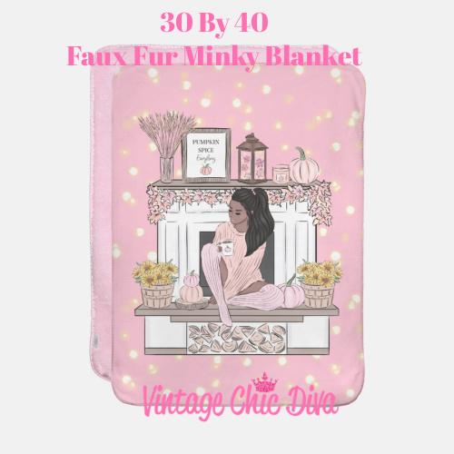 Blush Fall Girl5 Blanket-