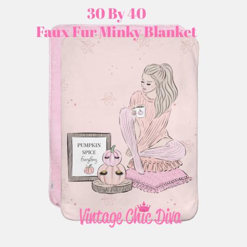Blush Fall Girl6 Blanket-