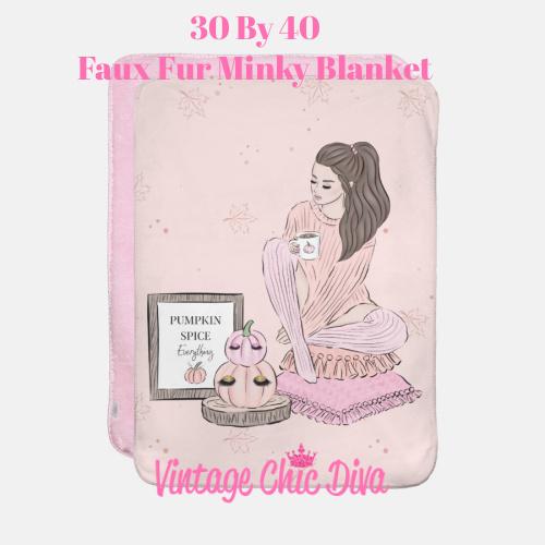 Blush Fall Girl7 Blanket-