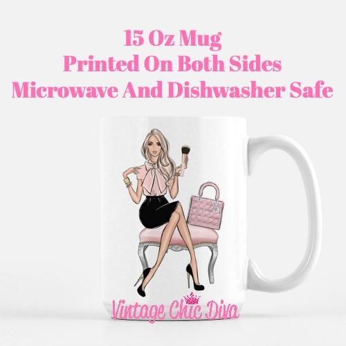 Blush Makeup Girl Vanity10 Coffee Mug-
