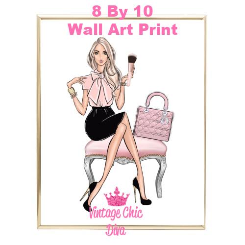Blush Makeup Girl Vanity10-