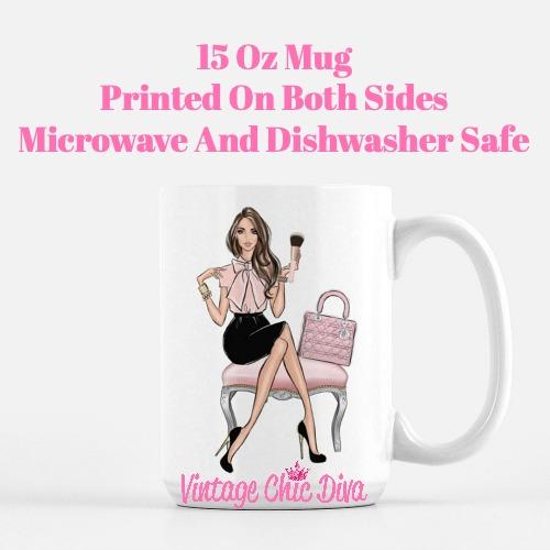 Blush Makeup Girl Vanity11 Coffee Mug-