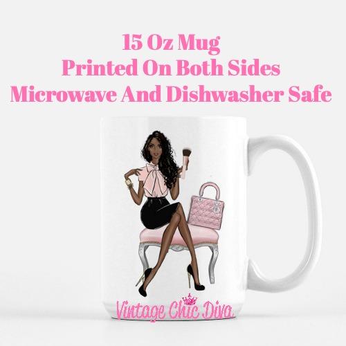 Blush Makeup Girl Vanity12 Coffee Mug-