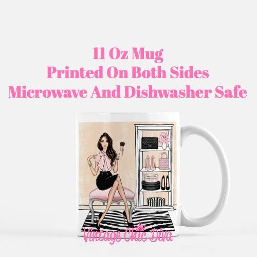Blush Makeup Girl Vanity13 Coffee Mug-