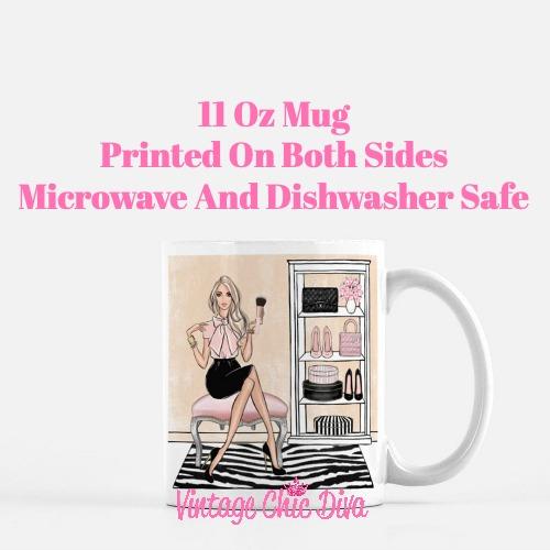 Blush Makeup Girl Vanity14 Coffee Mug-