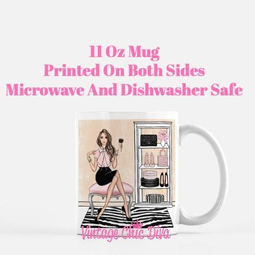 Blush Makeup Girl Vanity15 Coffee Mug-