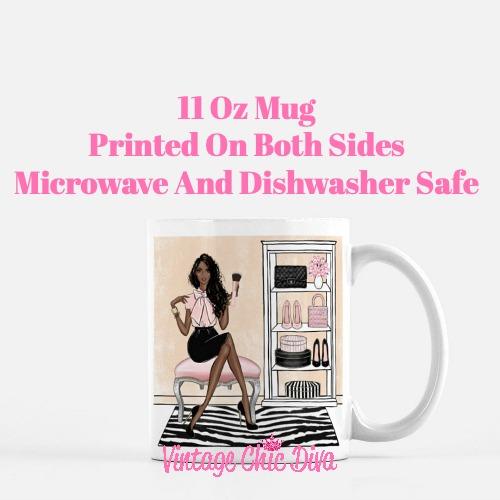 Blush Makeup Girl Vanity16 Coffee Mug-